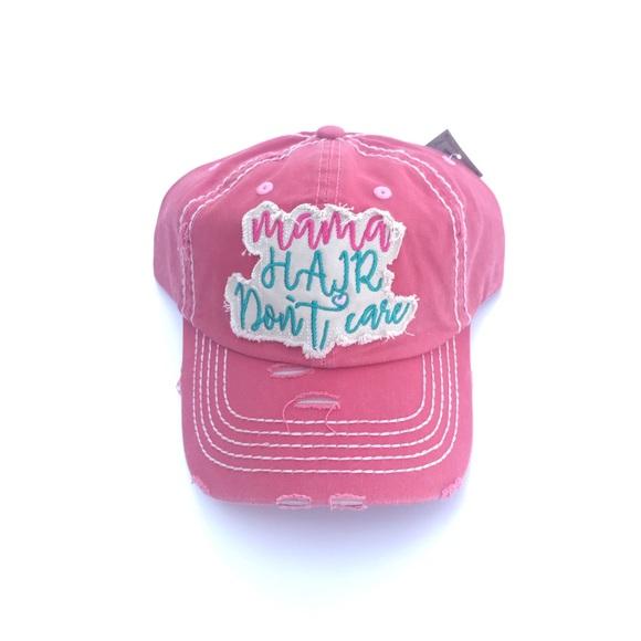 977b8c7c6fa2ba Accessories | On Sale Mama Hair Dont Care Samon Baseball Cap | Poshmark